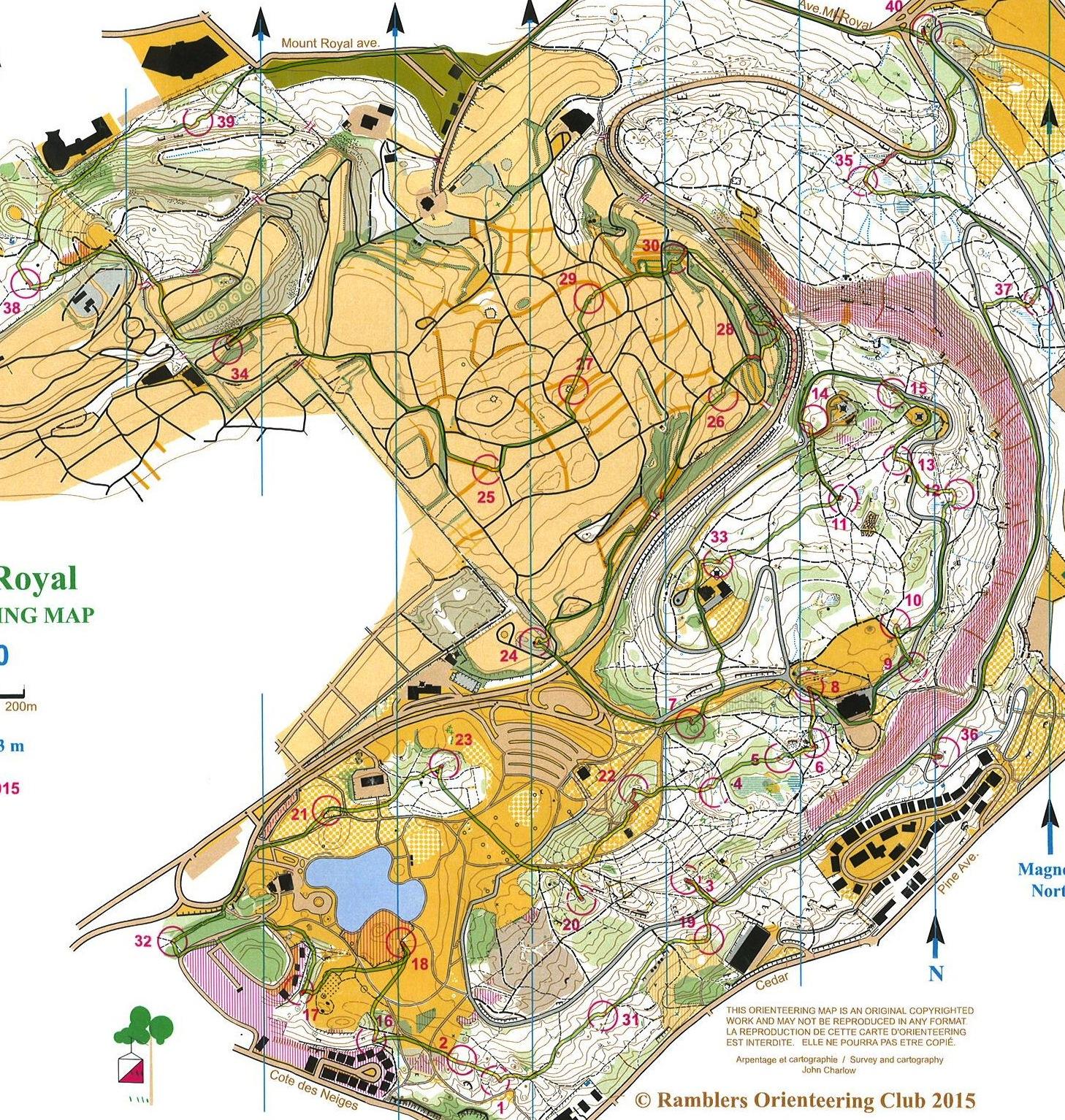 Mont Royal Score-O 2015_Tapio Haarlaa
